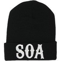 Sons Of Anarchy Men's SOA Beanie Black
