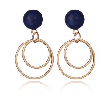Korean Strong Character Hollow Out Stylish Accessory Earrings [8581965831]
