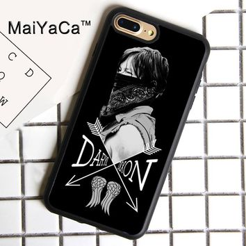 MaiYaCa The Walking Dead Norman Reedus Daryl Dixon Soft Rubber Cover For iPhone 8 Plus Case For Apple iPhone 8plus Phone Cases