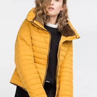 Long-Sleeve Zipper Winter Jacket