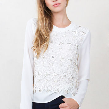 Women's Shine On Embellished Top