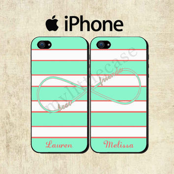 Best Friends iPhone Case - Personalized iPhone 5 Case - iPhone 4 Case - Infinity iPhone Case - TWO CASE SET