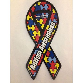 "Autism Awareness Small Ribbon Magnet 2"" x 4"""