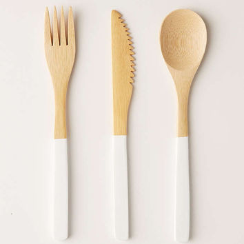 Core Bamboo 3-Piece Bamboo Flatware Set - Urban Outfitters