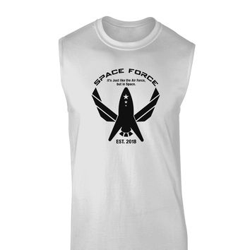 Space Force Funny Anti Trump Muscle Shirt  by TooLoud