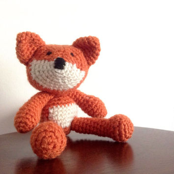 Crochet Fox, Amigurumi Fox, Plush Fox, Stuffed Fox toy, Crochet stuffed animal, Amigurumi crochet animal, Knitted animal dolls, OOAK gift