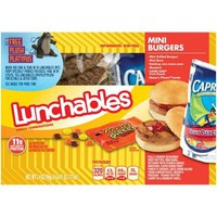 Lunchables Mini Burgers Lunch Combination, 3.4 oz - Walmart.com