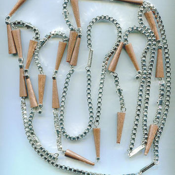 broken jewelry chains lot wood charms silver square cable chains supplies findings