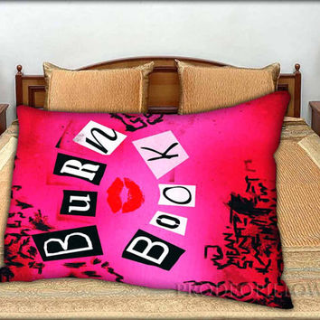 "Cute Pink Burn Book Mean Girl - 20 "" x 30 "" inch,Pillow Case and Pillow Cover."