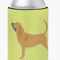 Bloodhound Checkerboard Green Can or Bottle Hugger BB3784CC