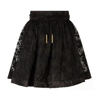 Zimmermann Rife Embroidered A-Line Skirt | Harrods.com