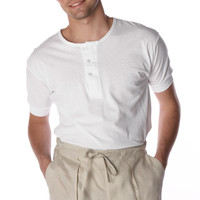 Short Sleeve old cuban style undershirt 100% cotton