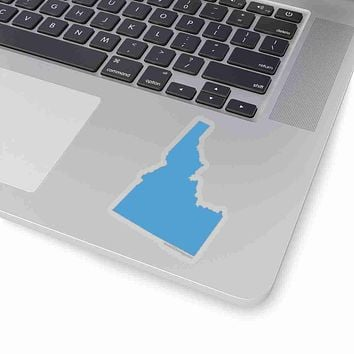 Idaho State Shape Sticker CAROLINA BLUE