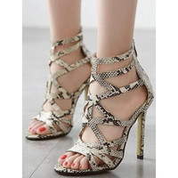 Hollow Out High Heel Sandals LAVELIQ