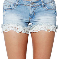 Lacy Denim Shorts