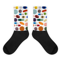 Pills Black foot socks