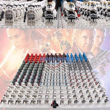 Star Wars Force Episode 1 2 3 4 5 21pcs/lot  White Clone Yellow Utapau Trooper Army Darth Vader with s Red Lightsaber Building Blocks Bricks Toys AT_72_6