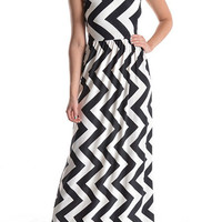 Chevron Maxi Dress - 2 Colors