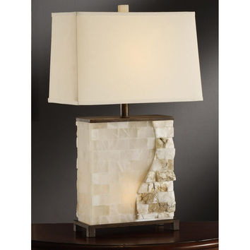 Crestview Collection Vista Stacked Stone Table Lamp