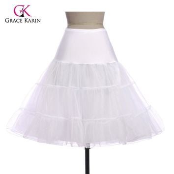 Petticoats For Wedding Dress Retro Vintage Women Pettiskirt Tutu Mini Skirt Slips tulle Underskirt Crinoline Jupon Petticoat