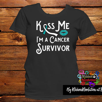 Kiss Me I'm a Cervical Cancer Survivor Shirts