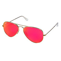 Ray-Ban - Matte Gold-Toned Aviator Metal Mirrored Sunglasses