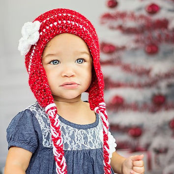 Cake smash outfit, Soft girls hat, Crochet Girls beanie, Crochet first birthday beanie for photos, Gift for her, earflap beanie
