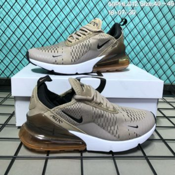 DCCK N132 Nike Wmns Air Max 270 Flyknit Crystal Particle Cushion Causal Running Shoes Mroon