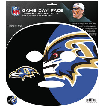 Baltimore Ravens Game Face Temporary Tattoo FGFD180