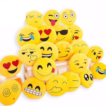 BeddingOutlet Cute Emoji Cushion Home Smiley Face Pillow Stuffed Toy Soft Plush 32cmx32cm Best Sell