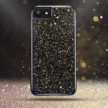 "iPhone 7 Case,iPhone 6 Case,ESR Bling Glitter Sparkle Dual Layer Shockproof Hard PC Back + Soft TPU Inner Shell Skin for 4.7"" iPhone 7/6(Black)"