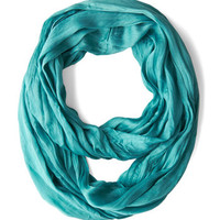 Minimal Brighten Up Circle Scarf in Aquamarine by ModCloth