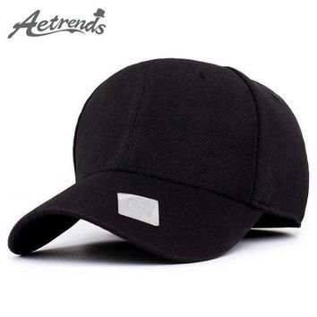 PEAPON [AETRENDS] 4 Solid Color Sports Baseball Cap Polo Hats for Men or Women bone golf hat