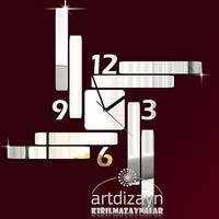 Modern wall clock mirror large design for unique living room decor