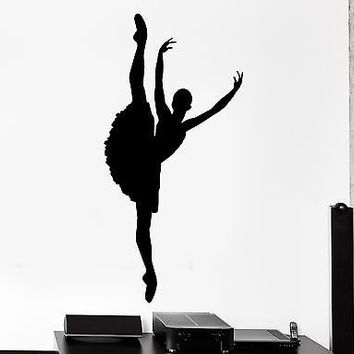 Wall Vinyl Sticker Decal Ballerina Gymnastic Dance Dancing Studio  (z3032)