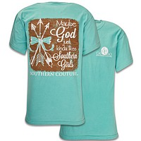 Southern Couture God Likes Southern Girls Arrows Bow Comfort Colors T-Shirt