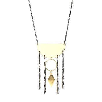 Alto Mare Mixed Metal Fringe Necklace