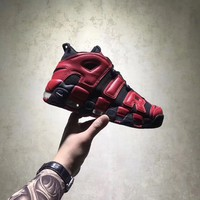 NIKE AIR MORE UPTEMPO BLACK RED