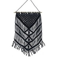 "Macrame Wall Hanging Black (16""x 28"") - Threshold™"