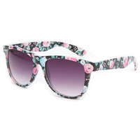 Full Tilt Floral Classic Sunglasses Black Multi One Size For Women 21448996901