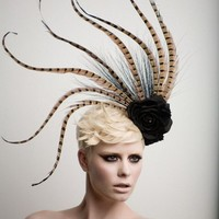 Pheasant Tale Fashion  Headpiece - Fascinator-cocktail hat