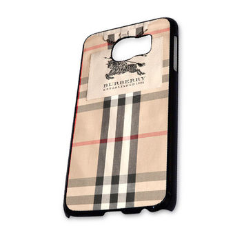 Burberry Pattern Design Samsung Galaxy S6 Case