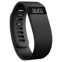 Fitbit Charge Wireless Activity Tracker and Sleep Wristband Large - Black (FB404BKLT)