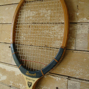 Vintage  Wooden Tennis Racket Bancroft Awesome