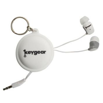 Ear Buds With Case, White