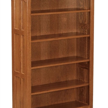 Amish Mission 5' OPEN BOOKCASE AM 195