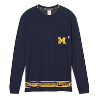 University of Michigan Long Sleeve Campus Tee - PINK - Victoria's Secret