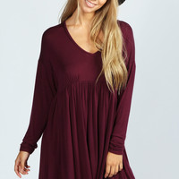 Aisha Long Sleeve Smock Dress