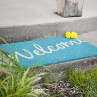 Entryways Cursive Welcome Non Slip Coir Doormat & Reviews | Wayfair