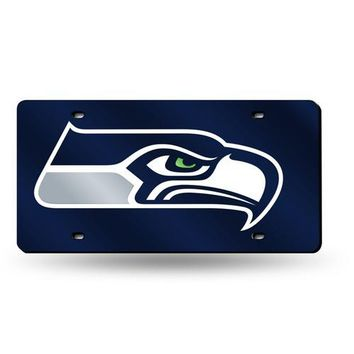 Seattle Seahawks NFL Laser Cut License Plate Tag